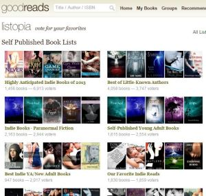Goodreads' self-published book lists