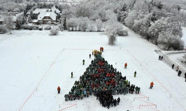 human christmas tree