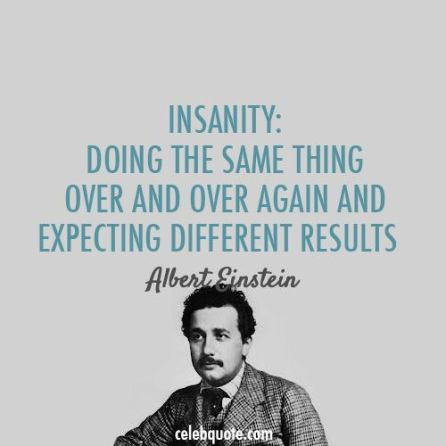 insanity albert einstein