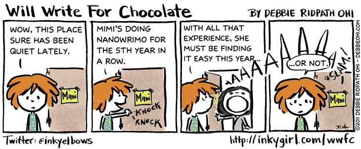 nanowrimo inkygirl will write for chocolate