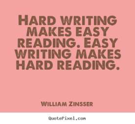 writing is hard william zinsser