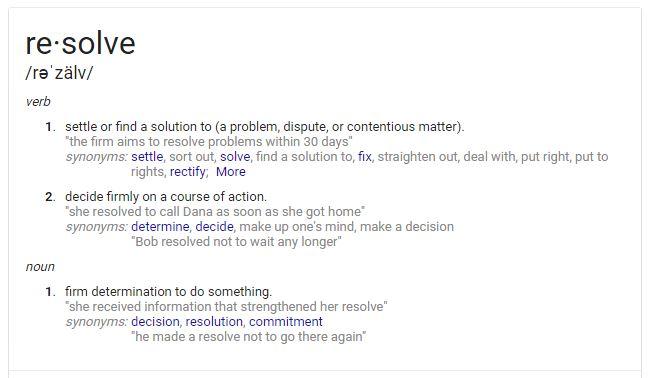 resolve definition