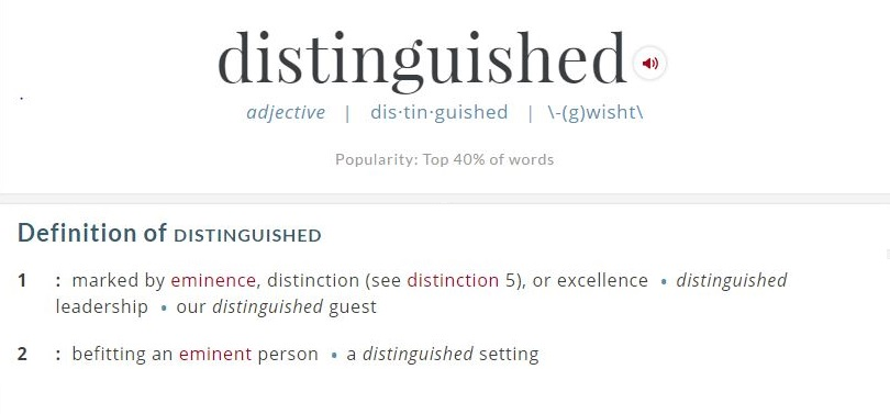 distinguished definition