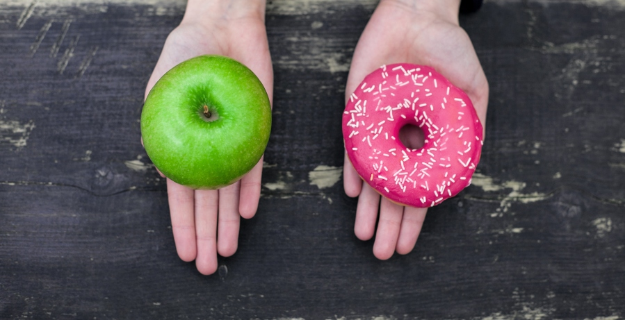 apple versus donut choices