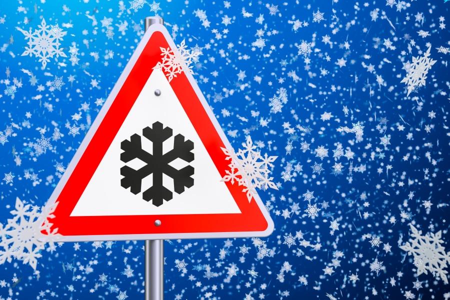 warning snow