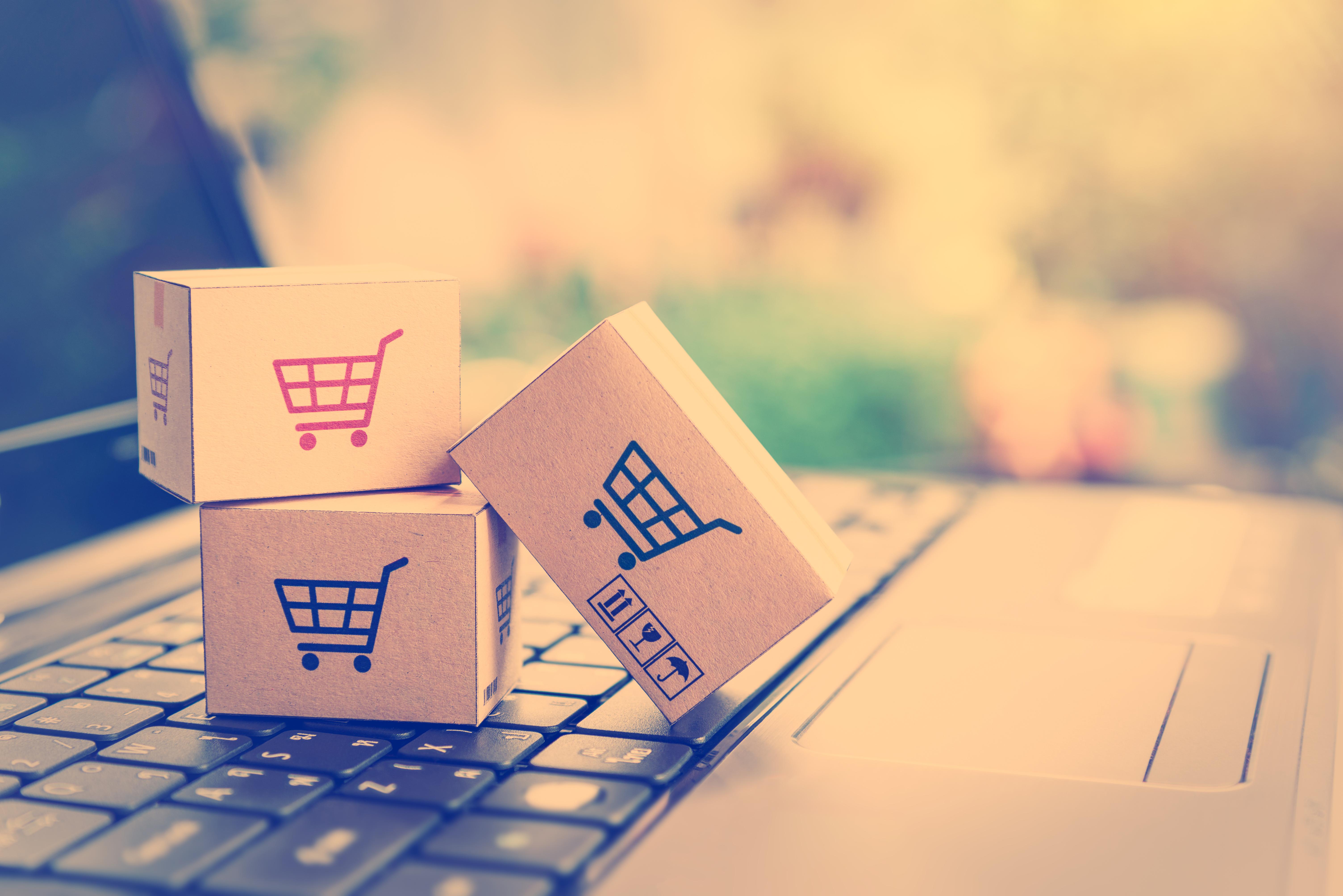 online sales shopping cart